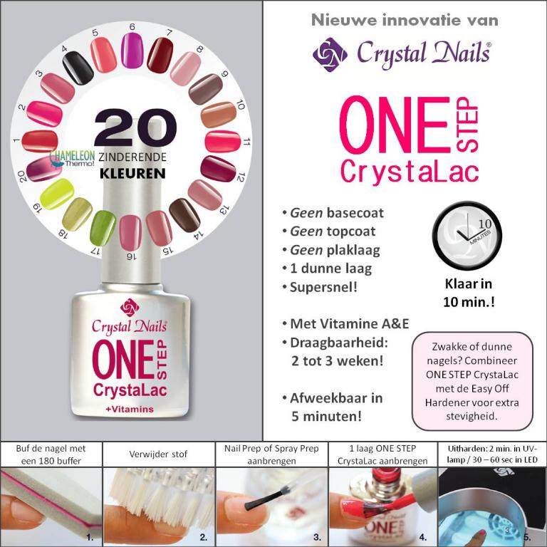 One Step CrystaLac Crystal Nails