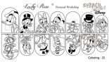 Loveness Water Decal Duck Family Stencil (LOS25)